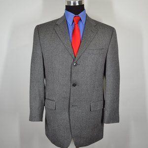 Calvin Klein 40R Sport Coat Blazer Suit Jacket Bla